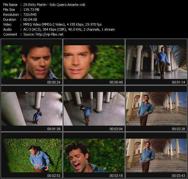Ricky Martin - Solo Quiero Amarte