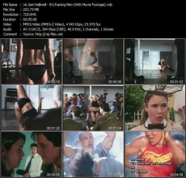Geri Halliwell - It's Raining Men (With Movie Footage)