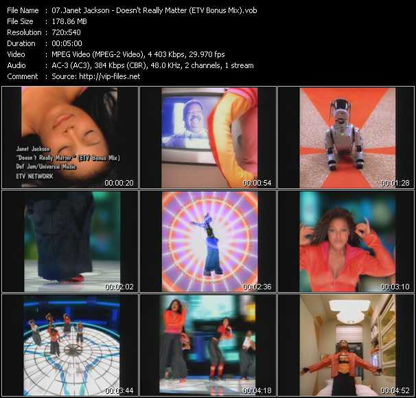 Janet Jackson - Doesn't Really Matter (ETV Bonus Mix)