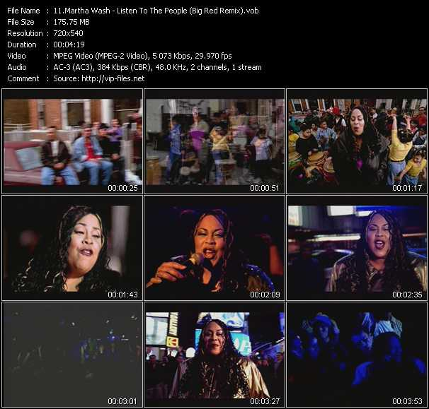 Martha Wash - Listen To The People (Big Red Remix)