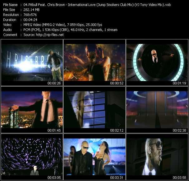 Pitbull Feat. Chris Brown - International Love (Jump Smokers Club Mix) (VJ Tony Video Mix)