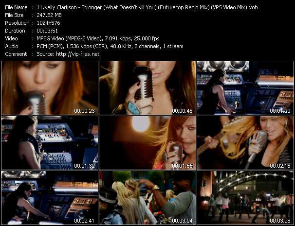 Kelly Clarkson - Stronger (What Doesn't Kill You) (Futurecop Radio Mix) (VPS Video Mix)