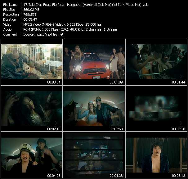 Taio Cruz Feat. Flo Rida - Hangover (Hardwell Club Mix) (VJ Tony Video Mix)