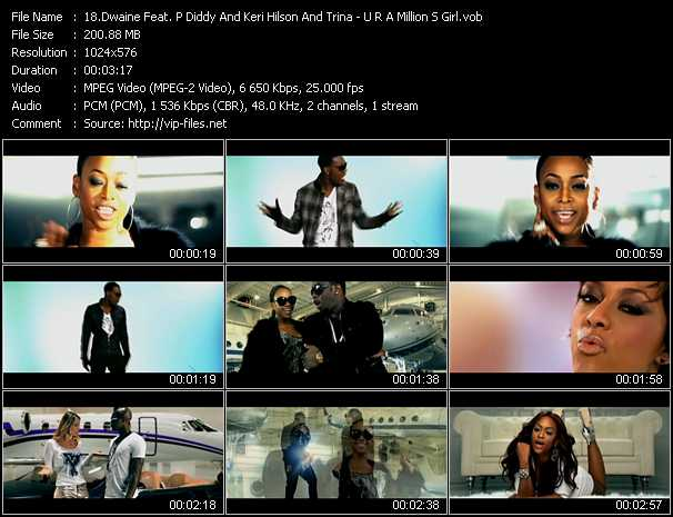 Dwaine Feat. P. Diddy (Puff Daddy) And Keri Hilson And Trina - U R A Million S Girl