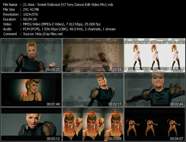 Aisa - Sweet Embrace (VJ Tony Dance Edit Video Mix)