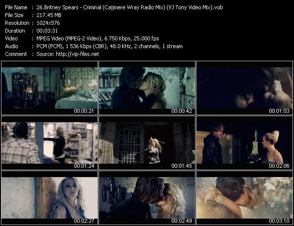 Britney Spears - Criminal (Cajjmere Wray Radio Mix) (VJ Tony Video Mix)