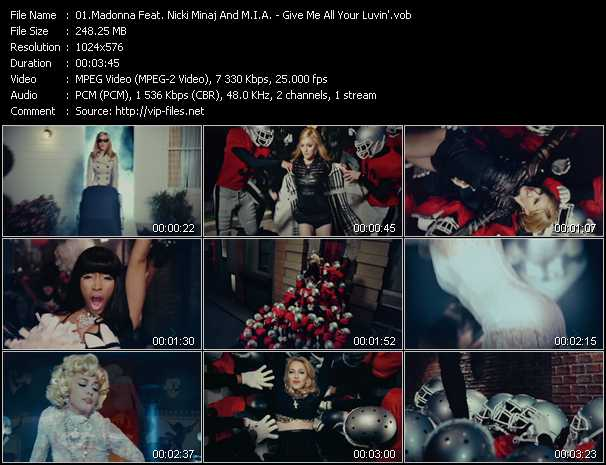 Madonna Feat. Nicki Minaj And M.I.A. - Give Me All Your Luvin'