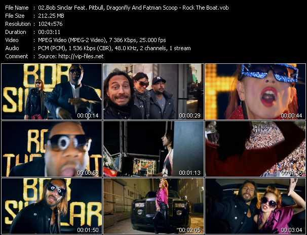 Bob Sinclar Feat. Pitbull, Dragonfly And Fatman Scoop - Rock The Boat