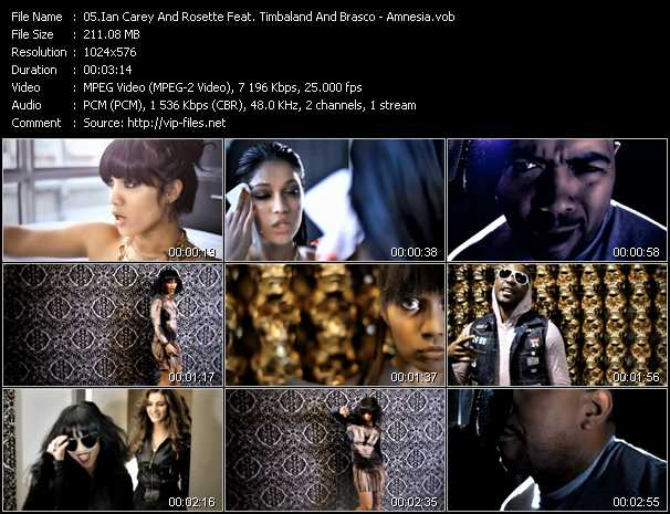 Ian Carey And Rosette Feat. Timbaland And Brasco - Amnesia