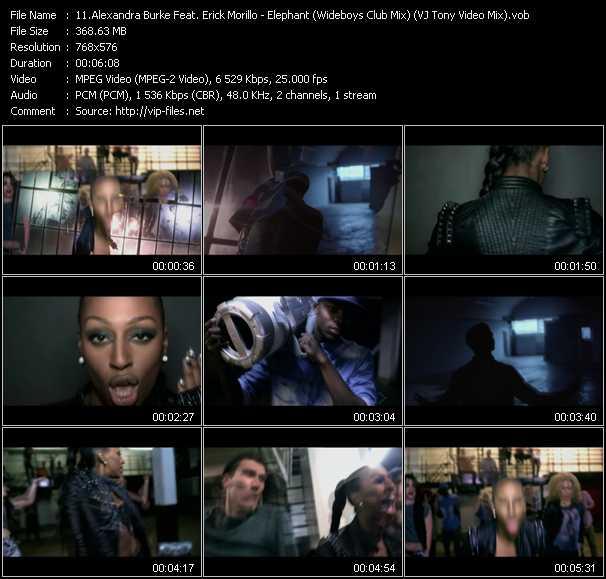 Alexandra Burke Feat. Erick Morillo - Elephant (Wideboys Club Mix) (VJ Tony Video Mix)