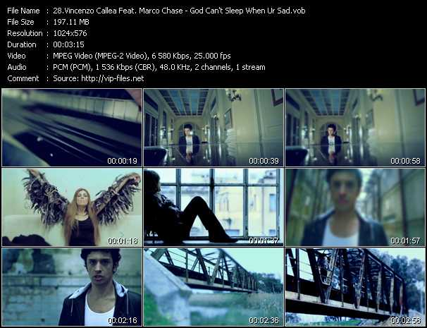 Vincenzo Callea Feat. Marco Chase - God Can't Sleep When Ur Sad