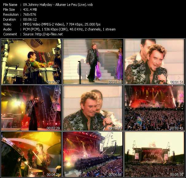 Johnny Hallyday - Allumer Le Feu (Live)