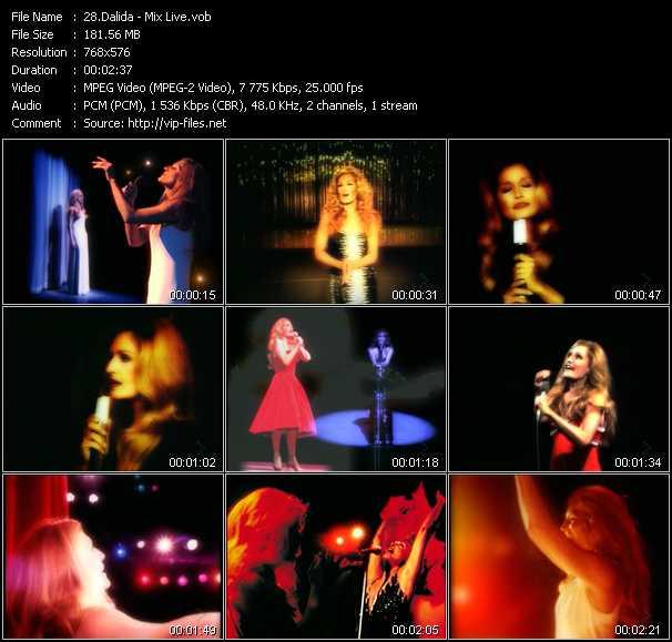 Dalida - Mix Live