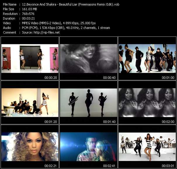 Beyonce And Shakira - Beautiful Liar (Freemasons Remix Edit)