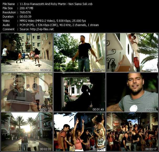 Eros Ramazzotti And Ricky Martin - Non Siamo Soli