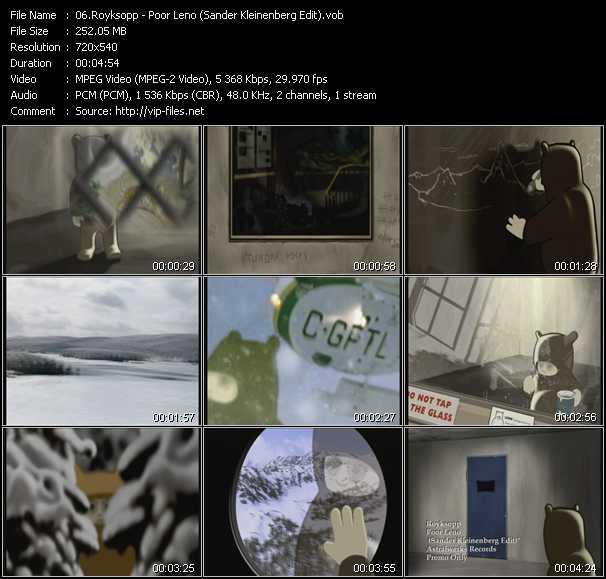 Royksopp - Poor Leno (Sander Kleinenberg Edit)