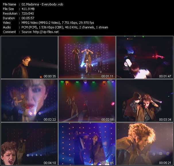 screenschot of Madonna video