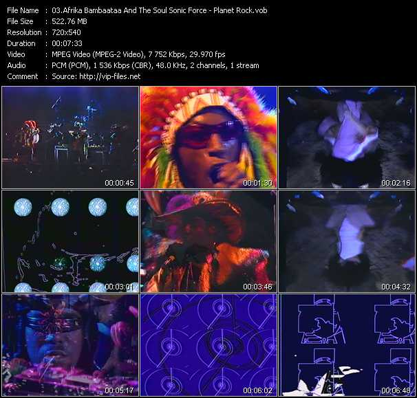 screenschot of Afrika Bambaataa And The Soul Sonic Force video