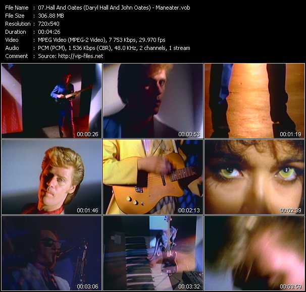 screenschot of Hall And Oates (Daryl Hall And John Oates) video