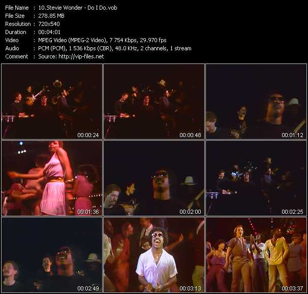 screenschot of Stevie Wonder video