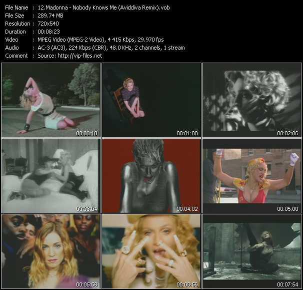 Madonna - Nobody Knows Me (Aviddiva Remix)