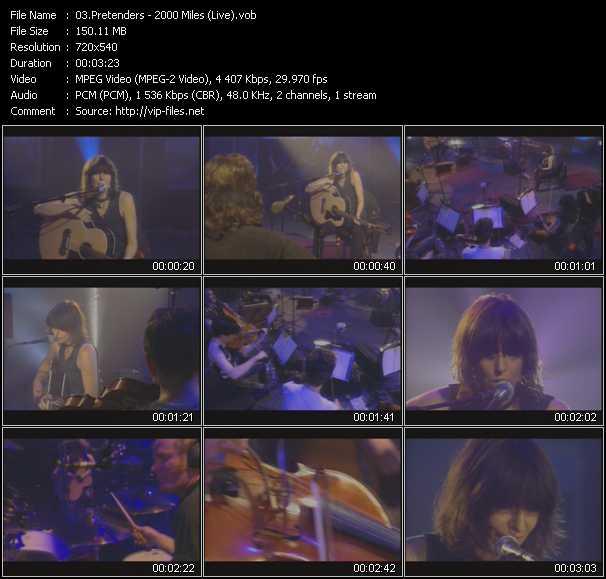 Pretenders - 2000 Miles (Live)