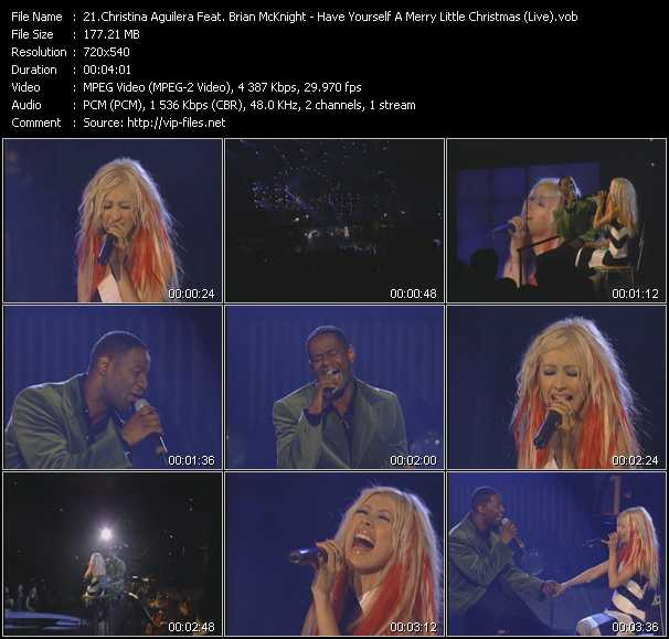 Christina Aguilera Feat. Brian McKnight - Have Yourself A Merry Little Christmas (Live)
