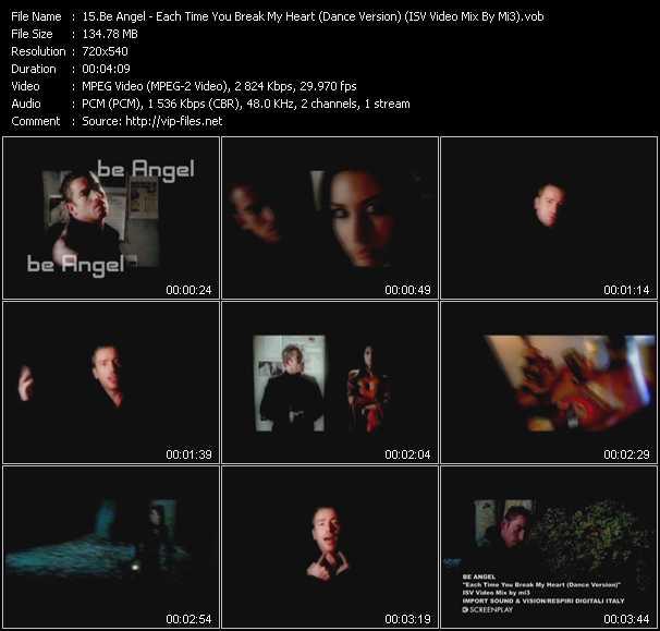 Be Angel - Each Time You Break My Heart (Dance Version) (ISV Video Mix By Mi3)