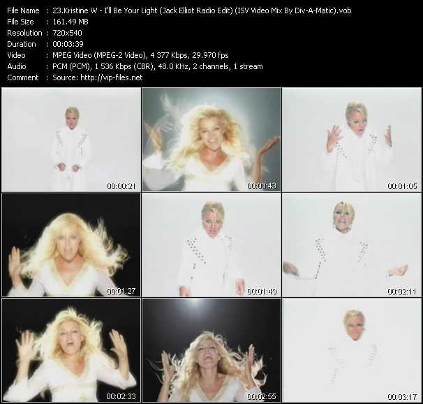 Kristine W - I'll Be Your Light (Jack Elliot Radio Edit) (ISV Video Mix By Div-A-Matic)