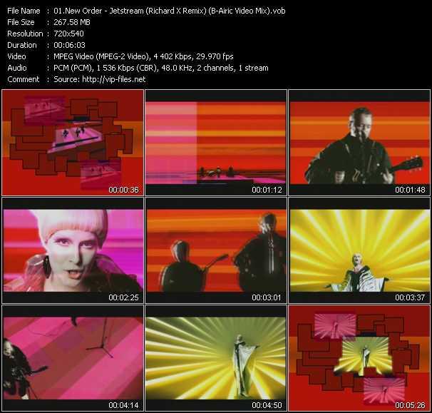 New Order - Jetstream (Richard X Remix) (B-Airic Video Mix)