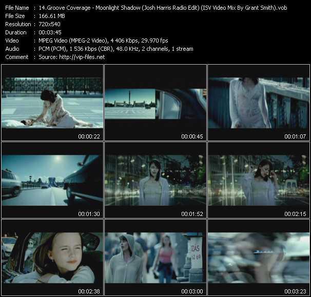 Groove Coverage - Moonlight Shadow (Josh Harris Radio Edit) (ISV Video Mix By Grant Smith)