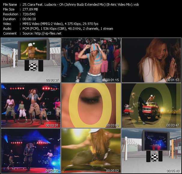 Ciara Feat. Ludacris - Oh (Johnny Budz Extended Mix) (B-Airic Video Mix)