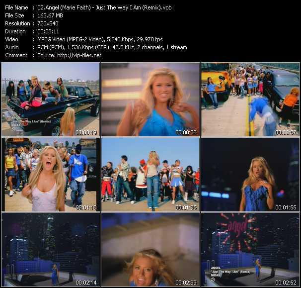 Angel (Marie Faith) - Just The Way I Am (Remix)