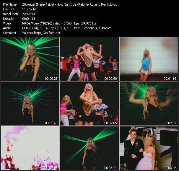 Angel (Marie Faith) - How Can I Lie (Ralphie Rosario Remix)