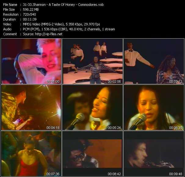 Shannon - A Taste Of Honey - Commodores - Let The Music Play - Boogie Oogie Oogie - Brickhouse