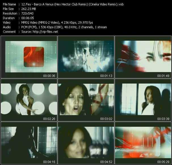 Fey - Barco A Venus (Hex Hector Club Remix) (Cineka Video Remix)
