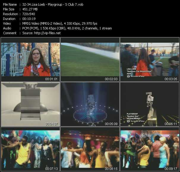 Lisa Loeb - Playgroup - S Club 7 - Someone You Should Know - Number One - Don't Stop Moving