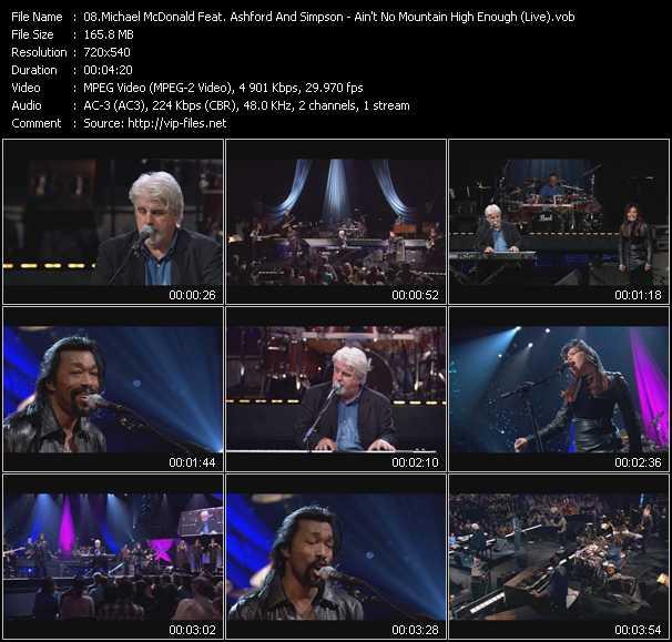 Michael McDonald Feat. Ashford And Simpson - Ain't No Mountain High Enough (Live)