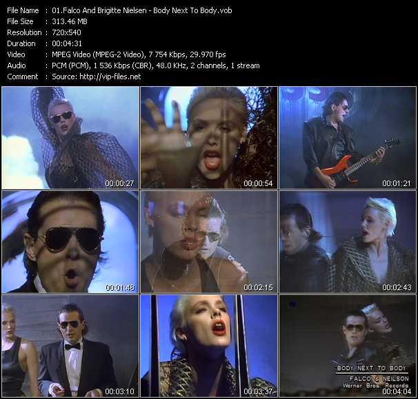 Falco And Brigitte Nielsen - Body Next To Body