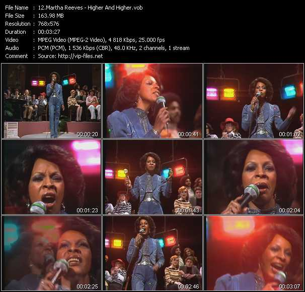 Martha Reeves - Higher And Higher (From Musikladen)