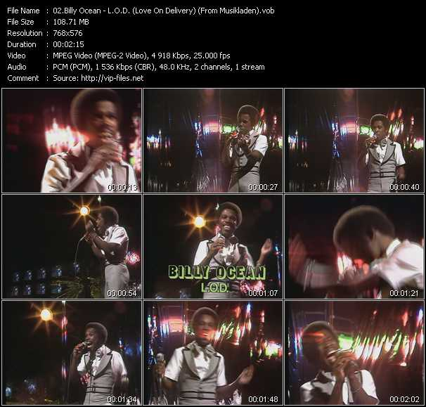 Billy Ocean - L.O.D. (Love On Delivery) (From Musikladen)
