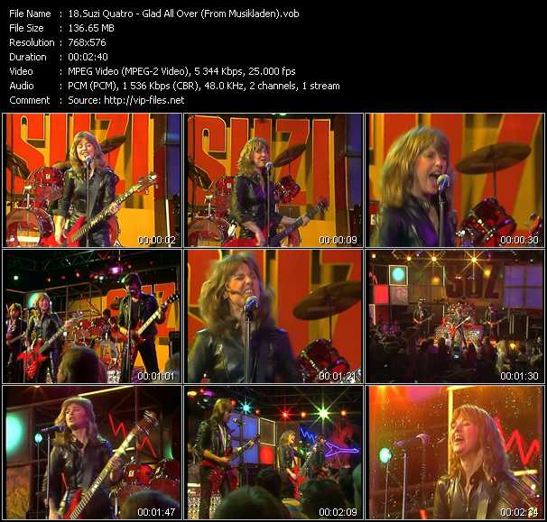Suzi Quatro - Glad All Over (From Musikladen)