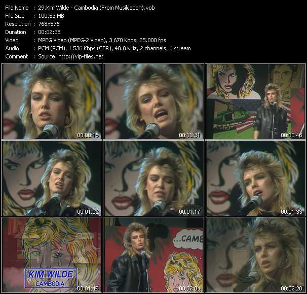 Kim Wilde - Cambodia (From Musikladen)