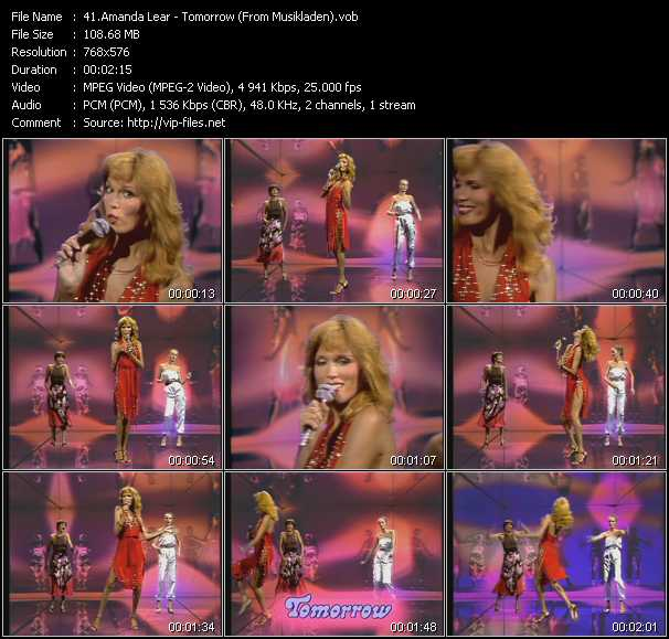Amanda Lear - Tomorrow (From Musikladen)