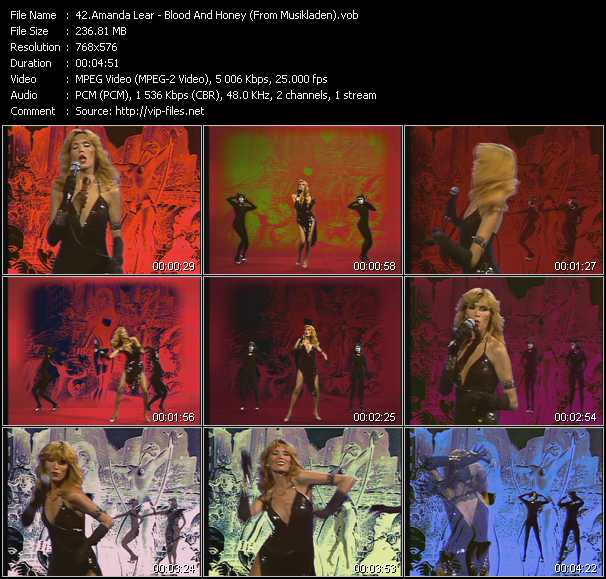 Amanda Lear - Blood And Honey (From Musikladen)