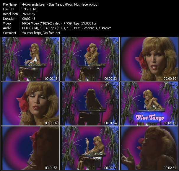 Amanda Lear - Blue Tango (From Musikladen)