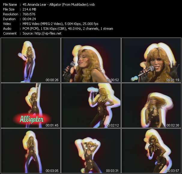 Amanda Lear - Alligator (From Musikladen)