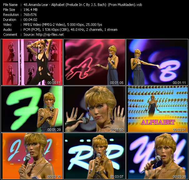 Amanda Lear - Alphabet (Prelude In C By J.S. Bach) (From Musikladen)