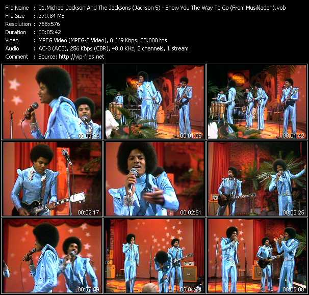 Michael Jackson And The Jacksons (Jackson 5) - Show You The Way To Go (From Musikladen)