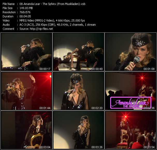 Amanda Lear - The Sphinx (From Musikladen)